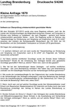 Drucksache 5/4246 Landtag Brandenburg