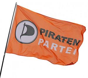 Wehende Piratenpartei-Flagge