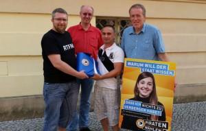Vote_in (cc-by-sa Harry Hensler) (v.l.n.r.: Michael Hensel, Lutz Bommel, Oliver Mücke, Andreas Schramm)